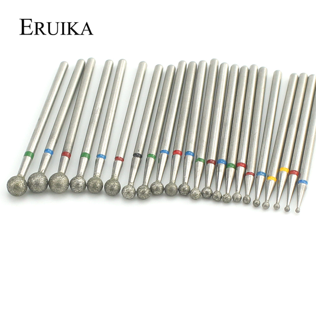 22 Types Ball Diamond Nail Drill Milling Cutter Rotary Burr Cuticle Clean Bits Apparatus for Manicure Nail Files Art Tools 2