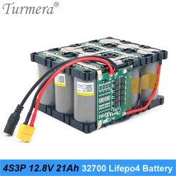 Paquete de baterías Turmera 32700 Lifepo4 4S3P 12,8 V 21Ah con 4S BMS equilibrado de 40 a para barco eléctrico y fuente de alimentación ininterrumpida de 12V