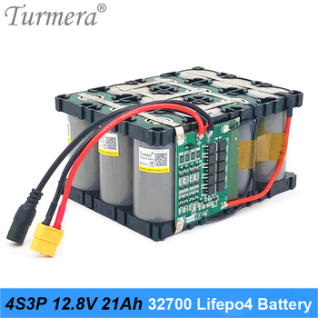 Turmera 32700 Lifepo4 Battery Pack 4S3P 12.8V 21Ah with 4S 40A Balanced BMS for Electric Boat and Uninterrupted Power Supply 12V