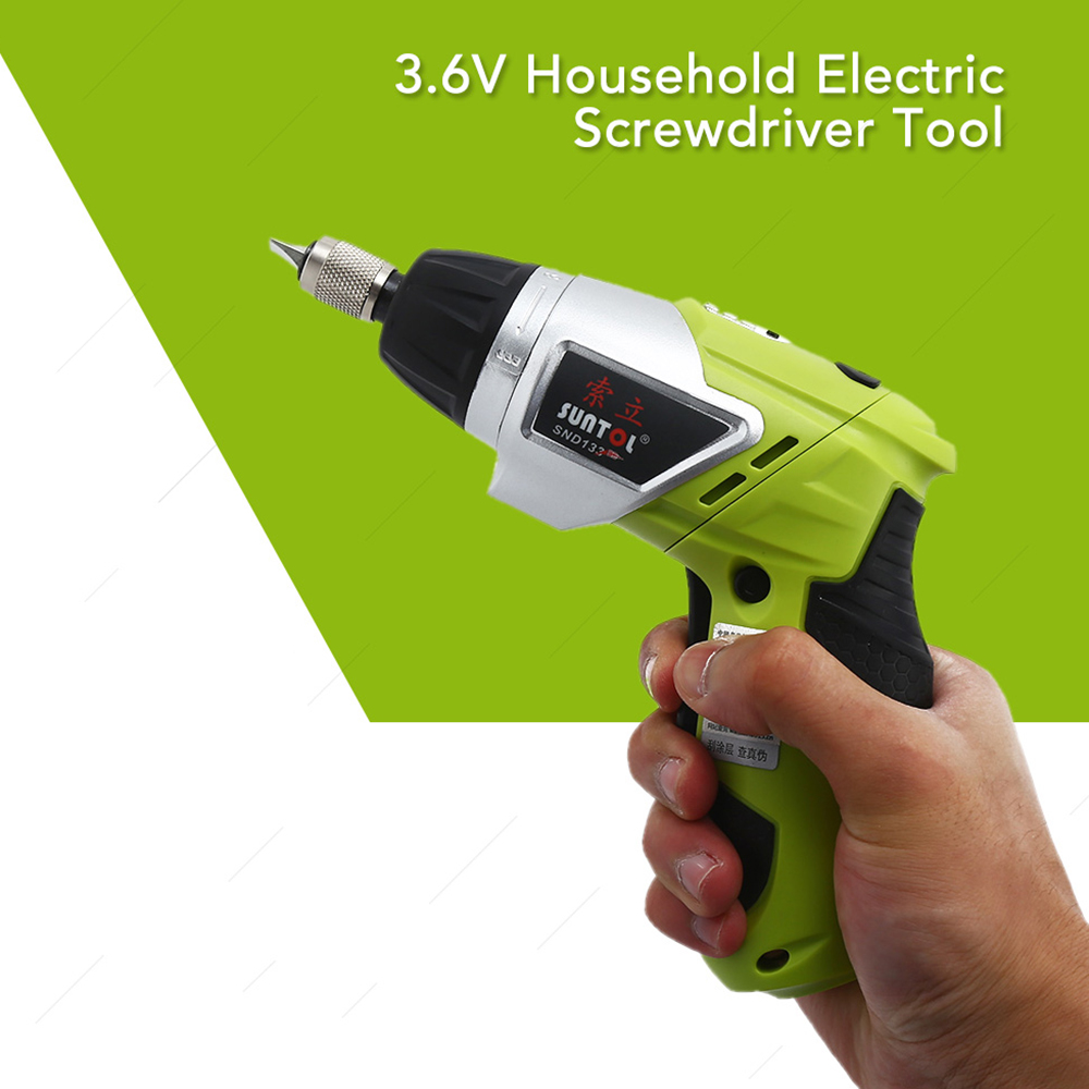 H09582a38dadb4df484d2f950bdf239baM - 3.6V Rechargeable Battery Cordless Electric Drill Screwdriver with Bits Set