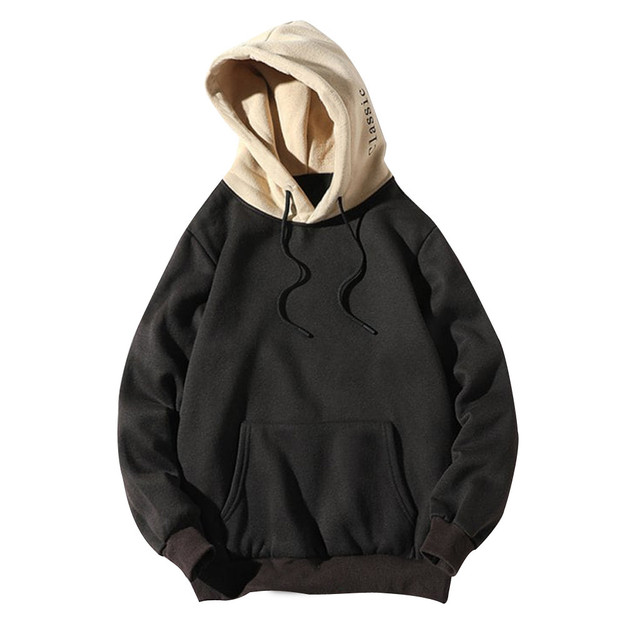 Champion Hoodie Casual Patchwork Hooded Top Hoodies Men Sweatshirt With Pockets Coat Hoodies Pour Hommes New