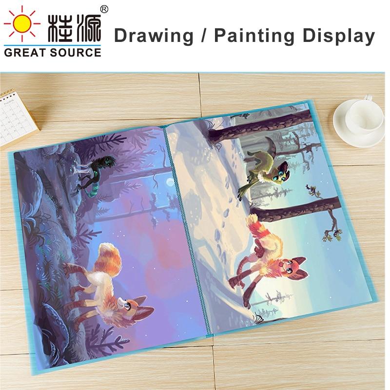 4K Display Book Drawing Presentation Book 40 Transparent Pockets Fancy Candy Color 573*425mm(22.56