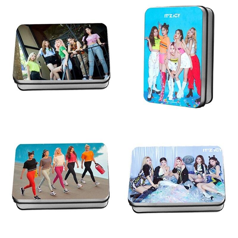 2019 New 40pcs/set JYP New Female Group ITZY Mini Album IT'z ICY Around Lomo Card