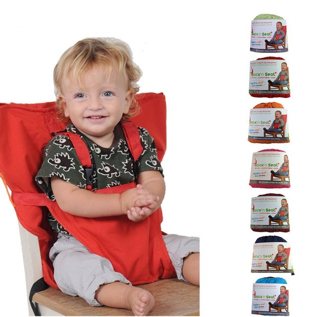 Portable Baby Chair Infant Seat Carrier Dining Lunch Chair/Seat For Kids Safety Belt Feeding High Chair Harness Baby Chair Seat