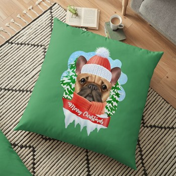 christmas in quarantine with dog Printed Christmas Pillowcase 2020 Decor for Home Merry Christmas Ornament Navidad Xmas Gifts image