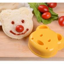 1pcs Lovely Bear Plastic Sandwich Bread Toast Cookie Cake Mold Cutter