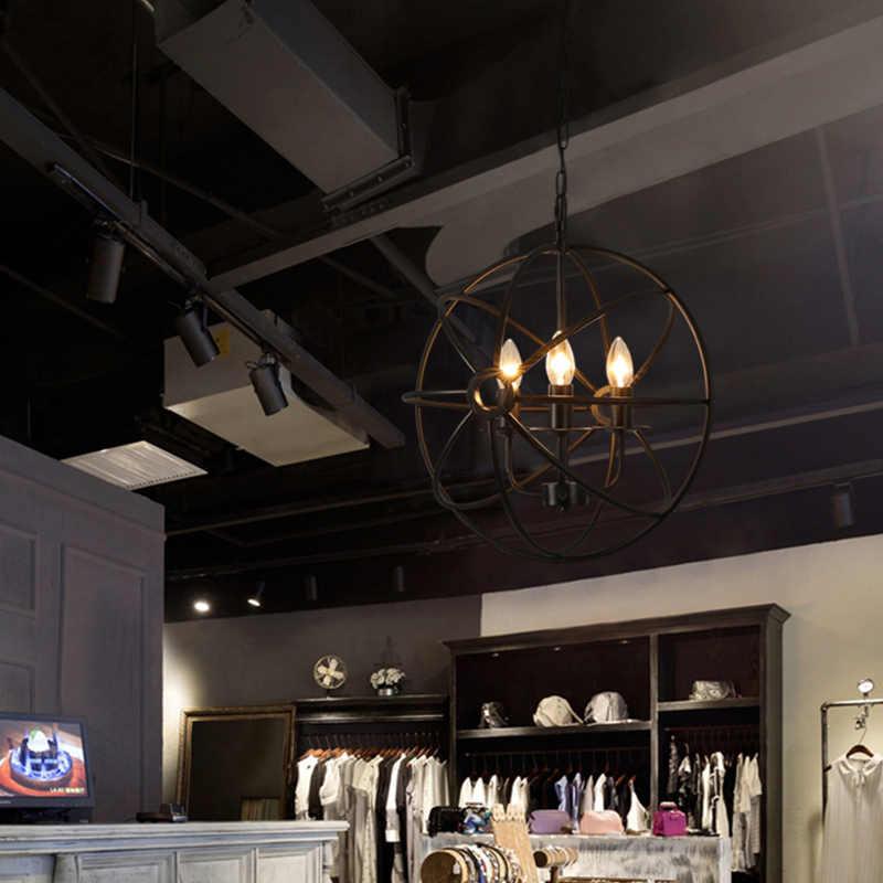 Black Sphere Chandelier Bar Kitchen