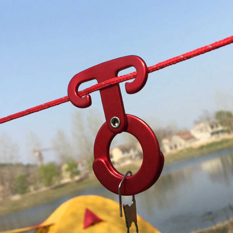 Tent Wind Rope Buckle Tent Lamp Hanging Buckle Hook Fixed Non-Slip for Camping
