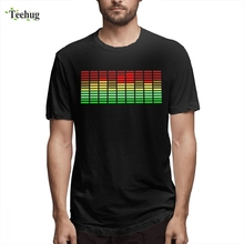 New Custom DJ Music Equalizer Camiseta Hot Sale Homme Tee Shirt Man Popular Summer For Male Round Neck T