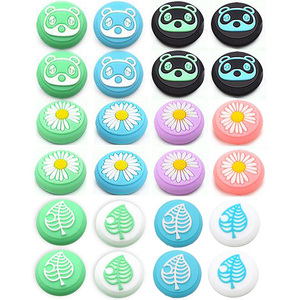 Image 1 - Animal Crossing Secretary Puppy Dog Isabelle Thumb Stick Grip Cap Joystick Cover For Nintend Switch Lite Joy Con Controller Case