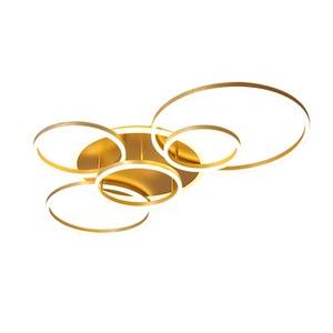 Image 5 - ゴールドホワイトコーヒー塗装モダンledシャンデリア照明リビング学習室調光対応パーラー玄関lustres lampadario照明器具