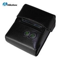 Kilometre taşı Bluetooth termal yazıcı makbuzu fatura 58MM Mini USB taşınabilir kablosuz bilet Android IOS cep yazıcı P10