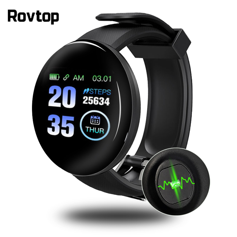 D18 Bluetooth Smart Watch Men Women Blood Pressure Smartwatch ...