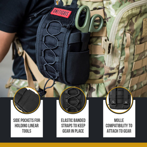 Image 3 - OneTigris First Aid Medical Bag Pack Medical Kit Quick Detach EMT/First Aid Pouch Tactical EDC Airsoft Trauma Pouch