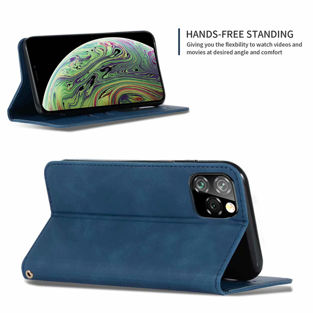 Luxury Leather Flip Wallet Case for iPhone 11/11 Pro/11 Pro Max 2