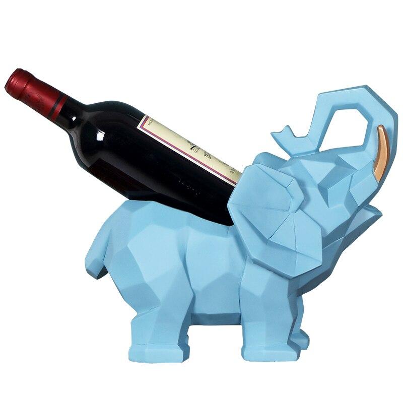 Elefante Escultura de Resina de Mesa Rack de vinho Garrafa de Vinho Garrafa de Rack de Armazenamento De Rack Apropriado Para A Decoração Da Cozinha Bar Família