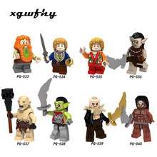 Single Model building blocks The Lord of the Rings Philip Iron foot Dan Kellett Ouyin Duoli Gandalf Saruman bricks toys JM125