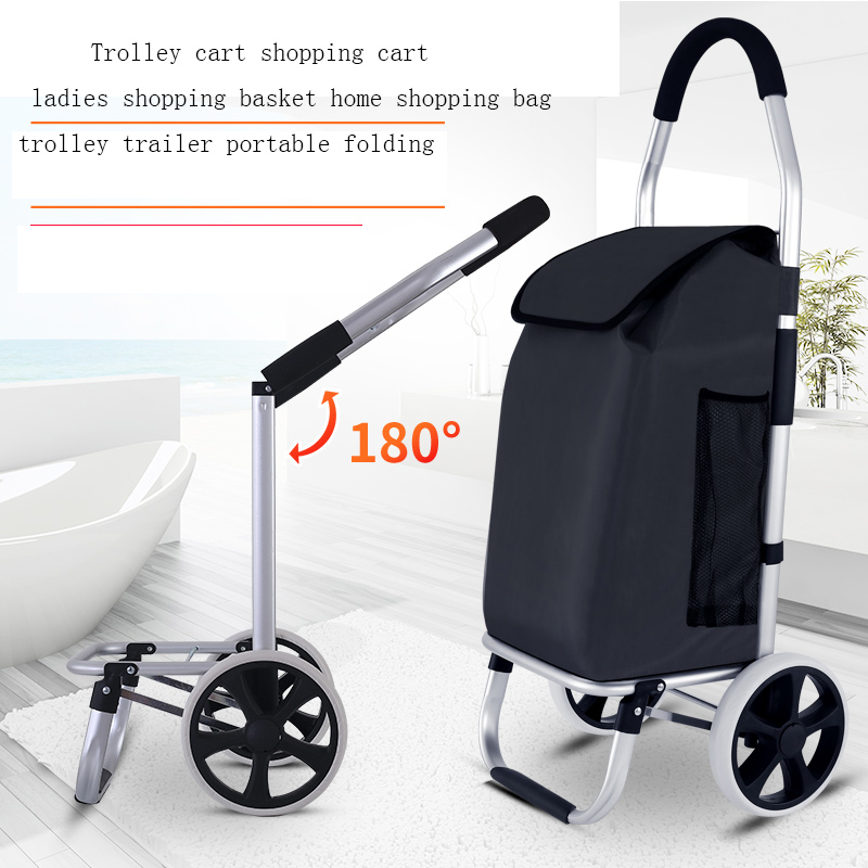 Stairs Shopping Cart Ladder Shopping Basket Large Capacity Trolley Trailer Folding Waterproof Shopping Bags Trolley Cart Case