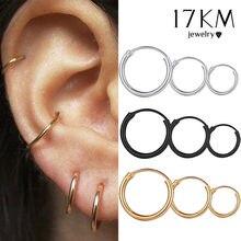 Punk 3 Size Eenvoudige Cirkel Kleine Hoepel Oorbellen Voor Vrouwen Meisje Hip-Hop Goud Zilver Kleur Geometrische Ronde Oorbel sieraden