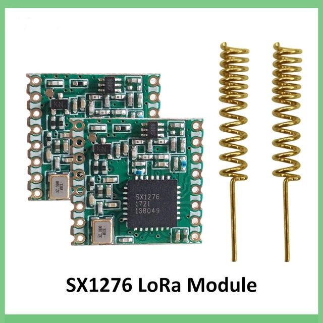 2 Pcs 868 Mhz Super Bassa Potenza Rf Lora Modulo SX1276 Chip di Ricevitore E Trasmettitore a Lunga Distanza di Comunicazione Spi iot + 2 Pcs Antenna