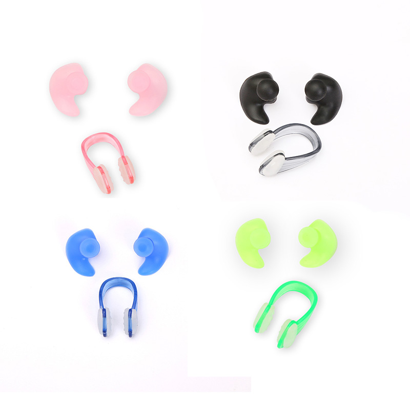 Wholesale 3/1 Pair Soft Nasal Clip Ear Plugs Environmental Waterproof Dust-Proof Nasal Clip Diving Sports Swimming Accessories