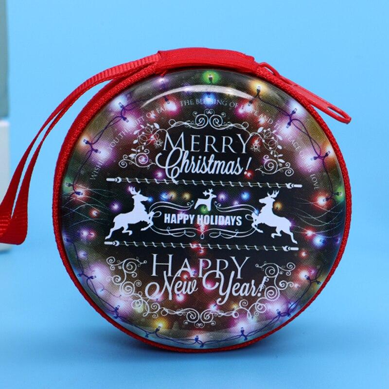 Лидер продаж, кошелек для монет с героями мультфильмов, Эльза, Анна, принцесса, чехол для ключей для девочек, кошелек, детский Снежная королева, гарнитура, сумка для монет - Цвет: Christmas1