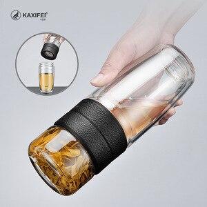 Image 4 - Zooobe 私二重壁ガラス茶水ボトル茶注入器ガラスタンブラーステンレス鋼フィルターポータブル商務ギフト