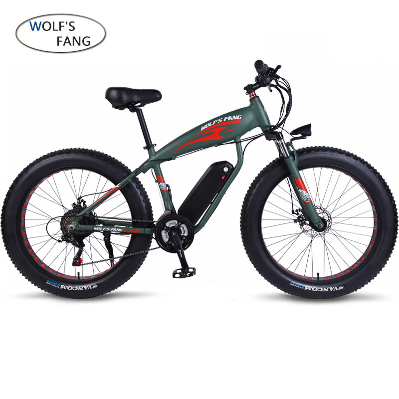Electric Bike26x4.0 27/21speed Fat Electric Bicycle 48V13/12AH Lithium Battery Electric Mountain Bikes 500 W Motor EBike powerfu Electric Bicycle Sports & Entertainment - title=