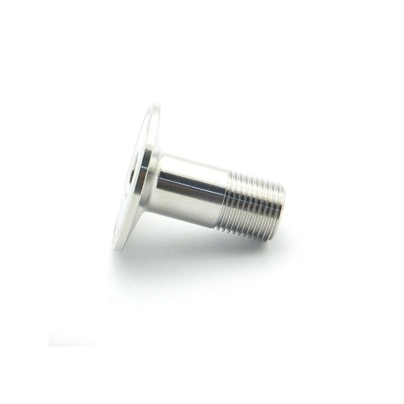 Hygienic Tube OD 50.5mm Sanitary Male Threaded Ferrule Pipe Hose Fitting Silver