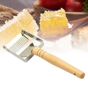 Stalowy ula miód Cutter narzędzia pszczelarskie Uncapping skrobak uchwyt Honeycomb skrobak sprzęt Uncapping nóż widelec łopata tanie i dobre opinie CN (pochodzenie) 313010 24 5*7 5cm