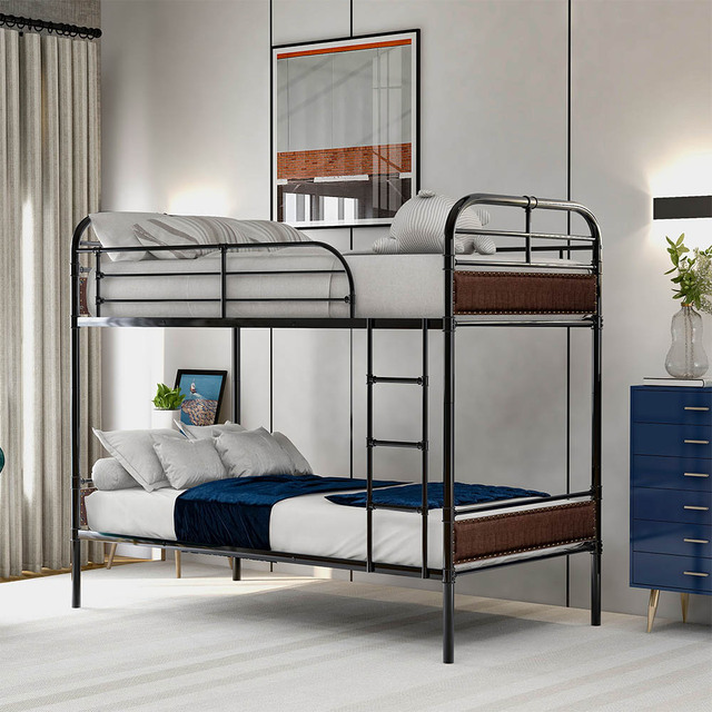Triple Bed with Ladder  Bed Frame 6