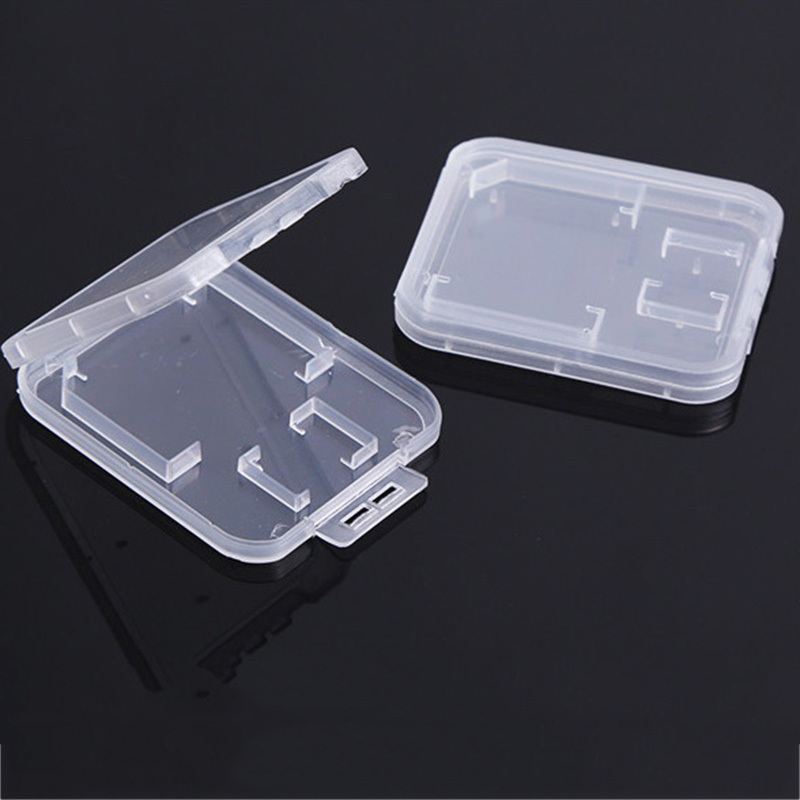 Купить с кэшбэком SD Card / TF Memory Card Storage Protection Box Camera Small White Box High-grade Plastic Transparent Card Cases