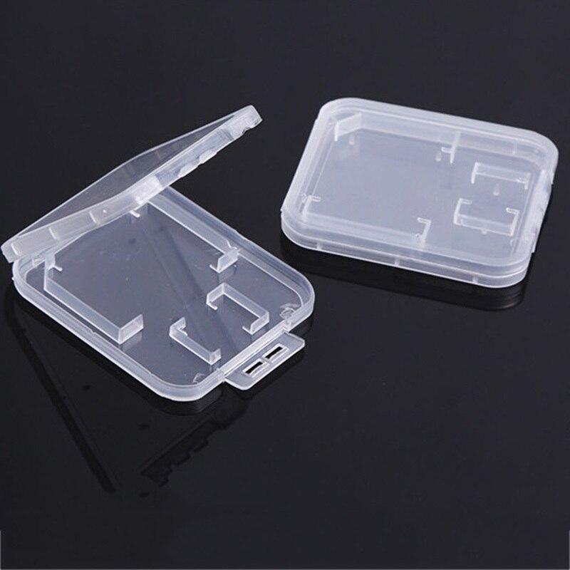 Image 5 - Карты SD/TF карта памяти защитная коробка для Камера небольшая белая коробка высокого качества пластиковый, прозрачный, для карт чехлы-in Чехлы для карт памяти from Компьютер и офис