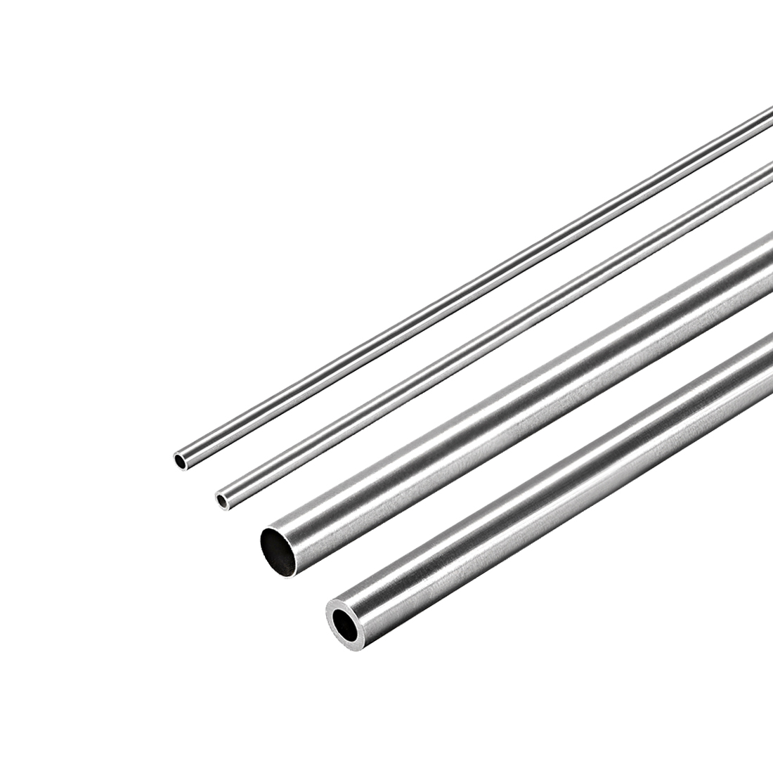 CynKen 4pcs OD 10mm x 5mm ID Stainless Pipe 304 Stainless Steel Capillary Tube Length 250mm