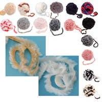 Pestañas de hilo de piel sintética mullida de poliéster suave de 32 metros para tejer pestañas de punto para suéter chal bufanda mantas