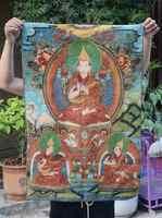 Tibet Buddhism Silk Cloth Tsongkhapa Buddha Thangka Painting Mural
