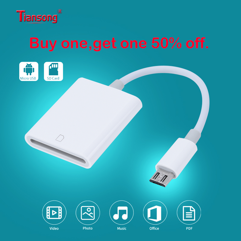 OTG Smartphone Aux Adapter Micro USB To SD Card Camera Reader/Transfer For Android Phone Huawei Samsung LG  With Micro Usb Port