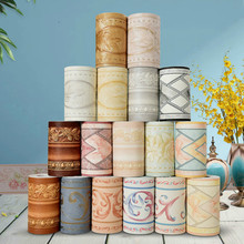 3D Adhesive Three-dimensional Floral Wallpaper Border Walls Roll Stereo Wall Stickers Living Room Decoration Daily Home Decor