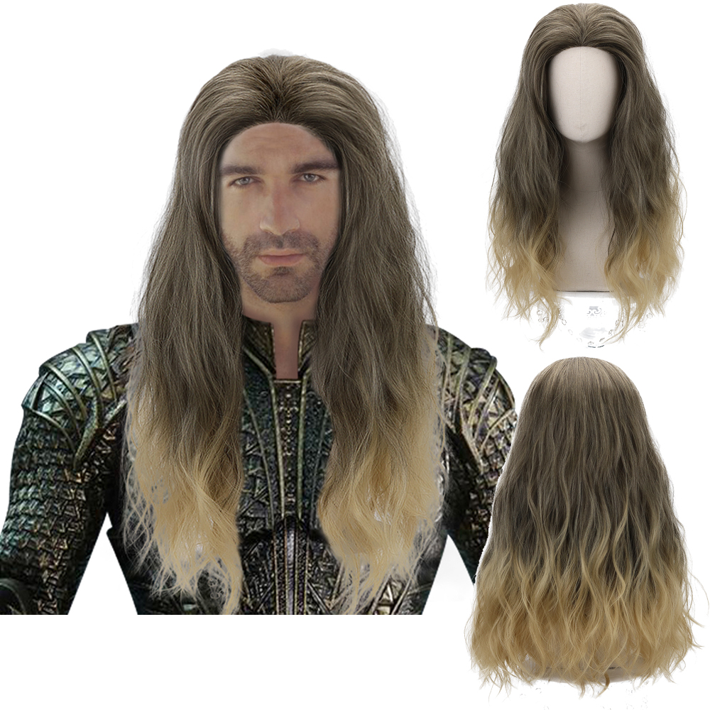 Comic Movie Aquaman Mera Cosplay Blonde Ombre Wine Red Long Wavy Synthetic Hair Wigs For Men Women Party Costume Halloween