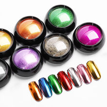Super Glans Nail Glitters Spiegel Titanium Poeder Rose Goud Zilver Metallic Manicure Nail Art Chrome Stof Decoratie # Een(China)