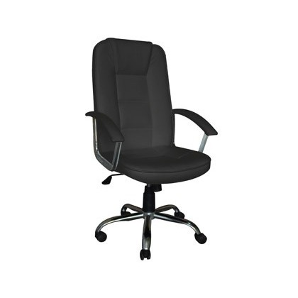 CHAIR DE Street Address Q-CONNECT HIGH BACK ADJUSTABLE HEIGHT HIGH 1115 + 85MM WIDTH 500MM AND PROF 490MM BLACK