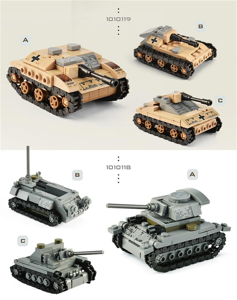 1061PCS Tank Building Blocks Toys Mini figures Vehicle Aircraft Boy Educational Block Military Compatible LegoINGlys Bricks (12)
