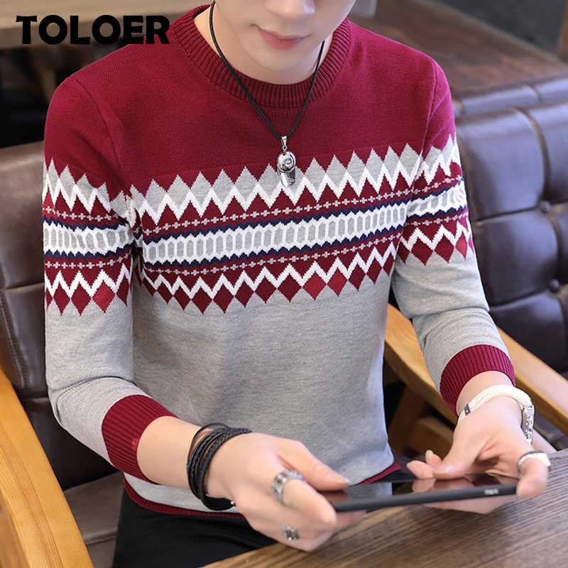Autumn Pullovers Sweaters Men 2020 Long Sleeve Knitted Sweater High Quality Winter Pullovers Men Homme Warm Navy Coat 3xl Newest