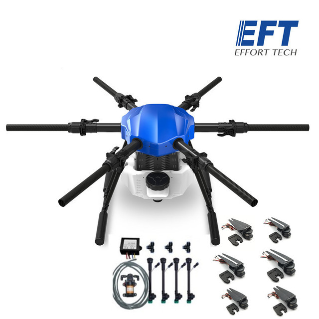 EFT new upgrade E610S 10L 10kg  agricultural spray drone frame six axis waterproof folding drone frame with X6 power system UAV