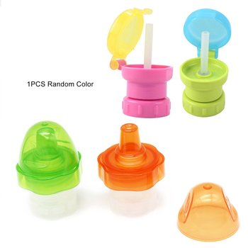 Water Drinking Bottle Cap Cover Replacement With Pp Silicone Food Grade Water Bottle Straw For Kids Children Feeding Drink baby feeding water bottle portable no spill cup my plastic bottle children s small kettle with straw food grade slide cover copo