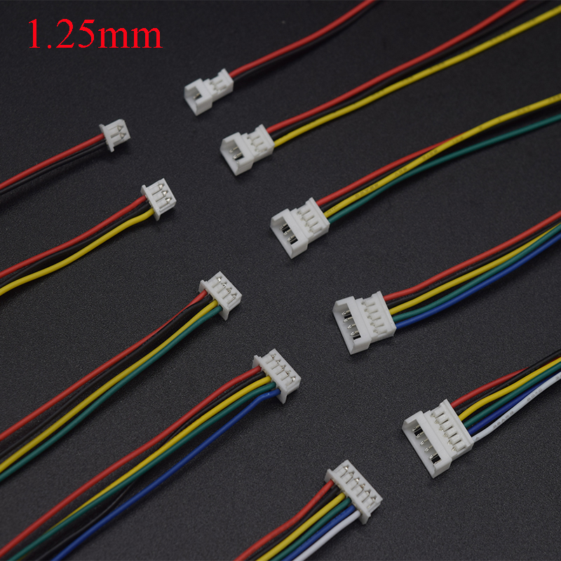 10Pair Connector <font><b>Micro</b></font> <font><b>JST</b></font> <font><b>1.25MM</b></font> 2P/3P/4P/5p/6-Pin Male&Female Connector Plug with Wires Cables LED Strip Connectors image