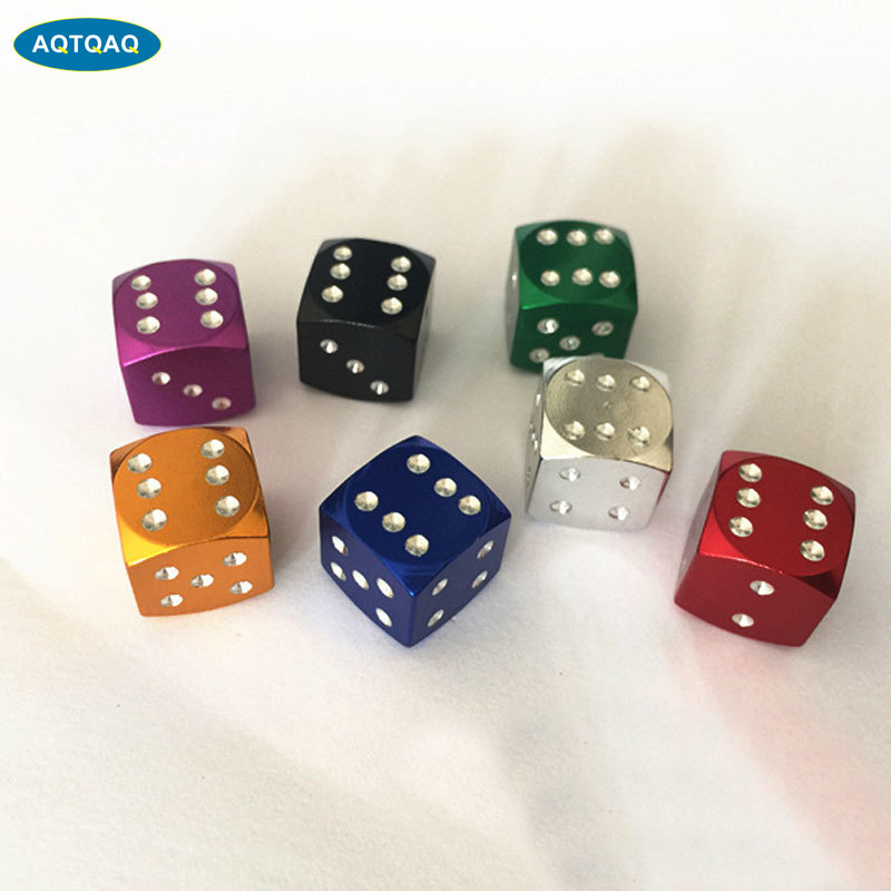4Pcs/Lot Aluminum Alloy Car-styling AUTO Dice Dust Valve Caps Car Motorcycles Electric Cars Tire Valve Dust Cap