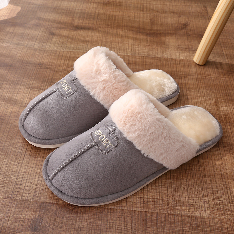ARIARI Men House Slipper Plush Winter Warm Shoes Man Comfort Coral Fleece Memory Foam Slippers House Shoe For Indoor Outdoor Use