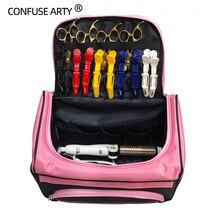 Saç makas çantası Salon kuaför çanta kuaförlük tarak alet çantası makyaj kutusu çantası seyahat saç taşıma çantası