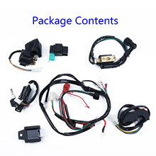 Electric Harness Bike Wire Harness Wiring Set ATV Quad Coolster 50/110/125 CC Kit Hot NEW 2018 Parts цена